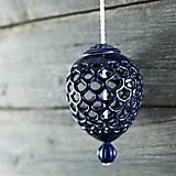 Dekorácie - Ozdoba šiška kobalt - 9957151_