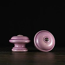 Nábytok - Úchytka - knopka lila - vzor č. 3 velký - 9955617_