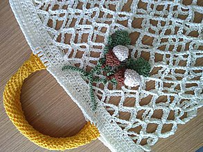 Nákupné tašky - Eko háčkovaná nákupná taška - 9955962_