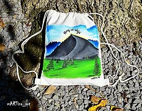 Batohy - Maľovaný batoh Hory už volajú - 9955665_