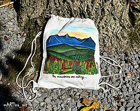 Batohy - Maľovaný batoh The mountains are calling - 9955670_