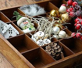 Krabičky - adventný kalendár drevený - 9957229_