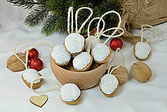Dekorácie - Vianočné orechy biele z madeiry - 9958452_