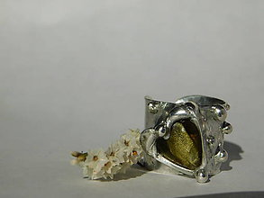 Prstene - Jabĺčkovo zelené srdiečko, tiffany - 9962337_
