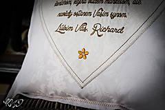 """Úžitkový textil - Vankúšik """"Poďakovanie rodičom"""" No.4 - 9961881_"""