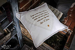 """Úžitkový textil - Vankúšik """"Poďakovanie rodičom"""" No.4 - 9961884_"""