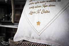 """Úžitkový textil - Vankúšik """"Poďakovanie rodičom"""" No.4 - 9961885_"""
