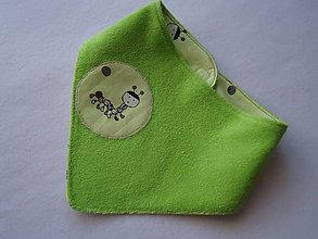 Detské doplnky - slintáčik -  obojstranná šatka-smejúca sa stonožka 1 - 9962226_