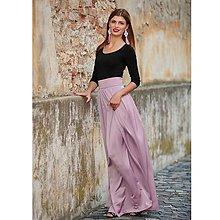 Sukne - Saténová sukňa staro-ružová - 9958803_