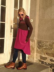Tuniky - Tunika  růžovo – hnědá - 9959734_