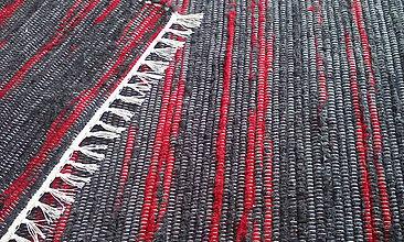 Úžitkový textil - Koberček bordovo-šedý - 9960023_