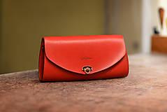 Kabelky - Kožená kabelka Mystique luxe červená - 9961421_