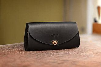 Kabelky - Kožená kabelka Mystique luxe čierna - 9961436_