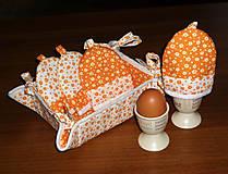 Úžitkový textil - súprava na raňajky s košíčkom - 9960593_