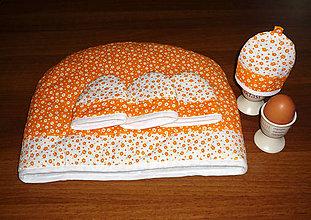 Úžitkový textil - súprava na raňajky s poklopom na čaj - 9960722_