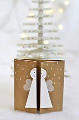 Papiernictvo - Malá vianočná pohľadnica - Anjelik môj - 9961694_