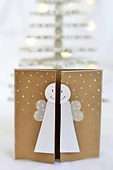 Papiernictvo - Malá vianočná pohľadnica - Anjelik môj - 9961695_