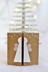 Papiernictvo - Malá vianočná pohľadnica - Anjelik môj - 9961704_