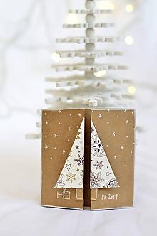 Papiernictvo - Malá vianočná pohľadnica - Stromček - 9961683_