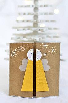 Papiernictvo - Malá vianočná pohľadnica - Anjelik môj - 9961696_