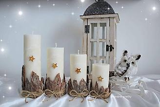 Svietidlá a sviečky - Adventné s vôňou prírodného dreva - 9959589_