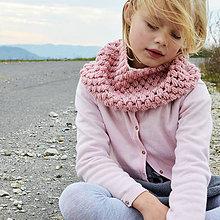 Detské doplnky - BUBLI nákrčník pre dievčatko v pastelovej ružovej - 9959049_