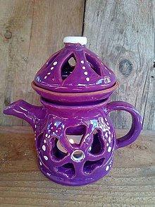 Svietidlá a sviečky - aromalampa-čajník - 9958905_