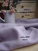 Textil - 100% len metráž, 190g/m2...LILAC DREAMS - 9960277_