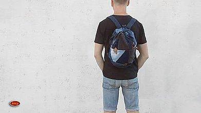 Batohy - unisex sešívaný batoh s kulatým dnem, zerowaste - 9959553_