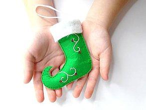 Úžitkový textil - Škriatkovské čižmičky- balenie (zelené) - 9959043_