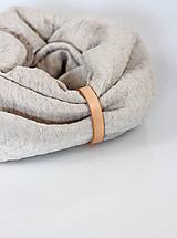 Doplnky - Pohodlný teplý ľanový nákrčník