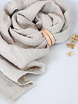 Doplnky - Príjemne hrejivý vzorovaný ľanový šál