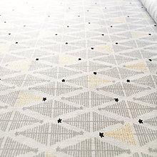 Textil - minimalistický les so zlatotlačou, 100 % bavlna Francúzsko, šírka 150 cm - 9959559_
