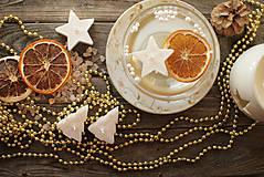 Svietidlá a sviečky - Vianočné plávajúce sviečky - 9960736_