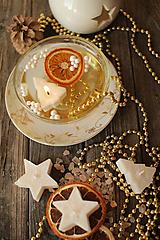 Svietidlá a sviečky - Vianočné plávajúce sviečky - 9960737_