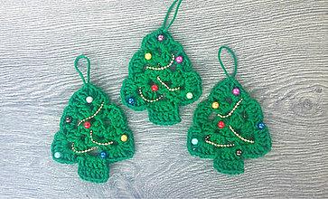 Dekorácie - Vianočná dekorácia / ..vianočné stromčeky - 9959149_