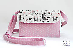 - Detská kabelka - pastelkovníčka Jednorožce na bielom (vrátane vnútorného vybavenia) - 9961800_
