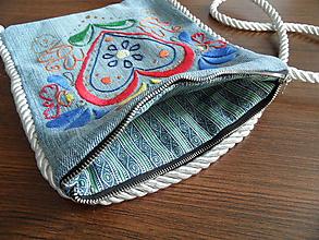 Taštičky - taštička rifľoidná na plece - 9961066_