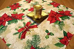 Úžitkový textil - Vianočný obrus  - vianočná hviezda - 9959691_