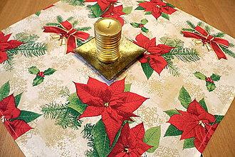 Úžitkový textil - Vianočný obrus  - vianočná hviezda - 9959690_