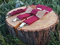 - Pánsky set - drevený motýlik a traky - 9962145_
