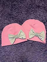 Detské čiapky - Čiapka s mašľou - 9958943_