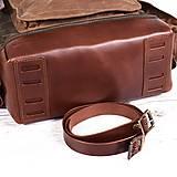 Batohy - Mestský batoh z kože a voskovaného plátna. Ruksak s objemnými vreckami. - 9960717_