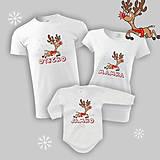 Tričká - Vianočná sobíková rodinka II. - rodinný set tričiek - 9962266_