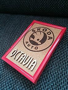 Obrázky - 3D obraz: Octavia (Vaše logo) (Biela) - 9960324_