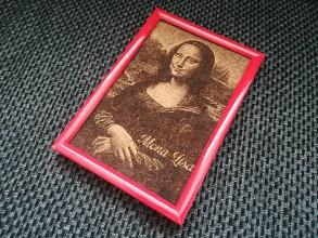 Obrázky - 3D obraz: Mona Lisa (Vaša fotografia) (Ružová) - 9960489_