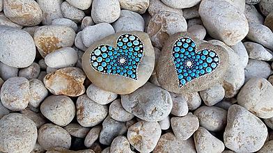 Dekorácie - Ty a ja v modrom - Na kameni maľované - 9962533_