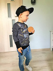 Detské oblečenie - Mikina ručne maľovaná - RVL - 9959399_