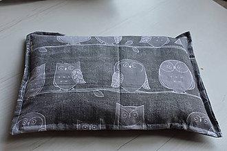 Úžitkový textil - Hrejivý vankúšik Sova - 9960982_