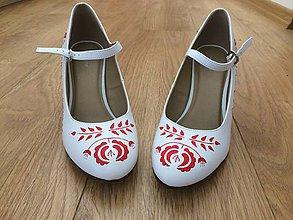 Obuv - Ručne maľované svadobné lodičky/topánky - 9960143_